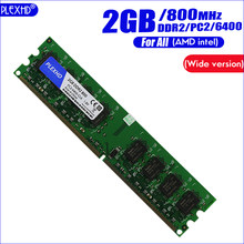 PLEXHD 2GB 2G DDR2 PC2-6400 800MHz para PC de escritorio DIMM PC2 6400 (versión amplia) memoria RAM (para intel amd) totalmente compatible(China)
