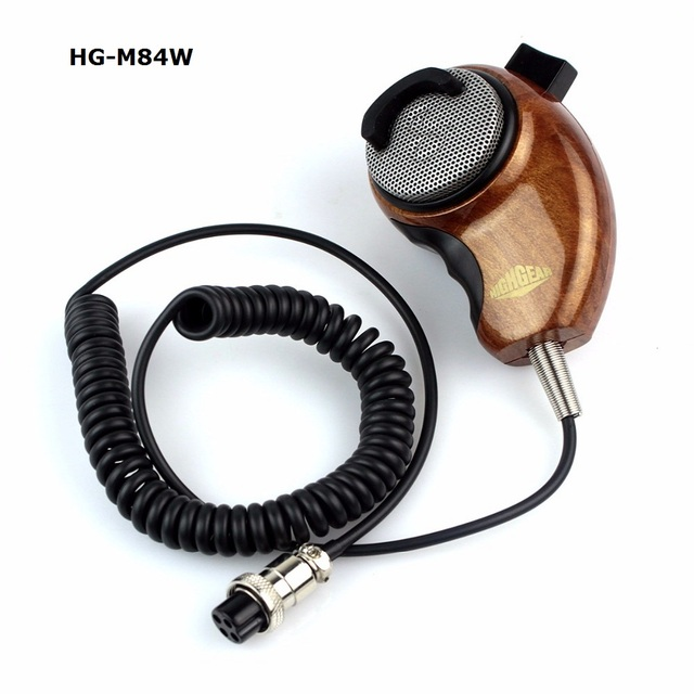 HG M84W 4Pin Ham Mic Wood Grain Noise Canceling Shoulder Microphone ...
