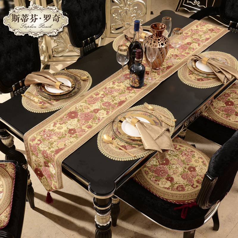 top grade luxurious table runner dining table cloth