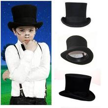 Niño negro Steampunk sombrero DIY niños sombrerero sombrero vintage niño  niña lana tradicional Sombreros de fieltro cec4192a12e