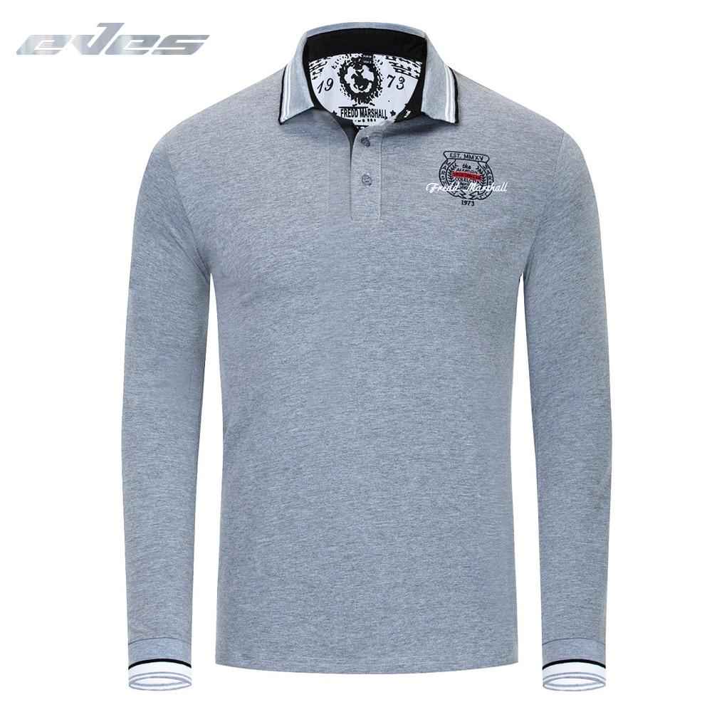 Fredd Marshall   Polo   Shirts Men Long Sleeve   Polos   Camisetas Masculinas Plus EU Size XXXL Black Gray Camisa   Polo   Masculin