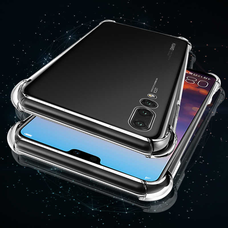 Transparent Silicone Case For Huawei Honor 8X Max 8C Shockproof Anti-knock TPU Soft Back Cover Shell For Huawei P20 Lite P20 Pro