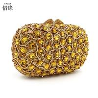 Xiyuan бренд дамы жесткий золото Сумки полный алмазов плеча Курьерские сумки маленький Повседневное крест Средства ухода за кожей Винтаж совр