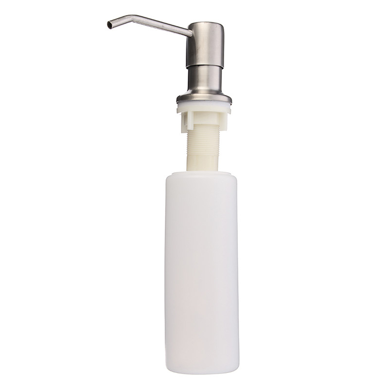 Deck Mounted Nickel Brushed Kitchen Sink Liquid Soap Dispenser Bottle Dishwashing Pool Sink Soap Dispenser Bottle Wholesale