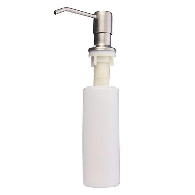 Deck Mounted Nickel Brushed Kitchen Sink Liquid Soap Dispenser ...