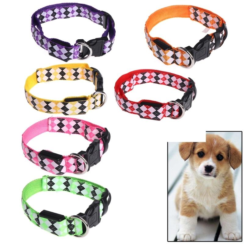 Pets Cat Dogs LED Collar Luminous Night Safety Flashing Leash Harness Pet Supplies