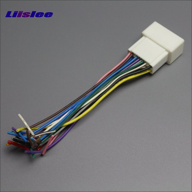 liislee plugs into factory harness for lexus es300 es330 gx470 is rh aliexpress com car radio wiring harness adapter radio wire adapter