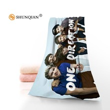 Пользовательские One Direction Полотенца s ткань из микрофибры Популярные лица Полотенца/ванна Полотенца Размеры печатать фотографии