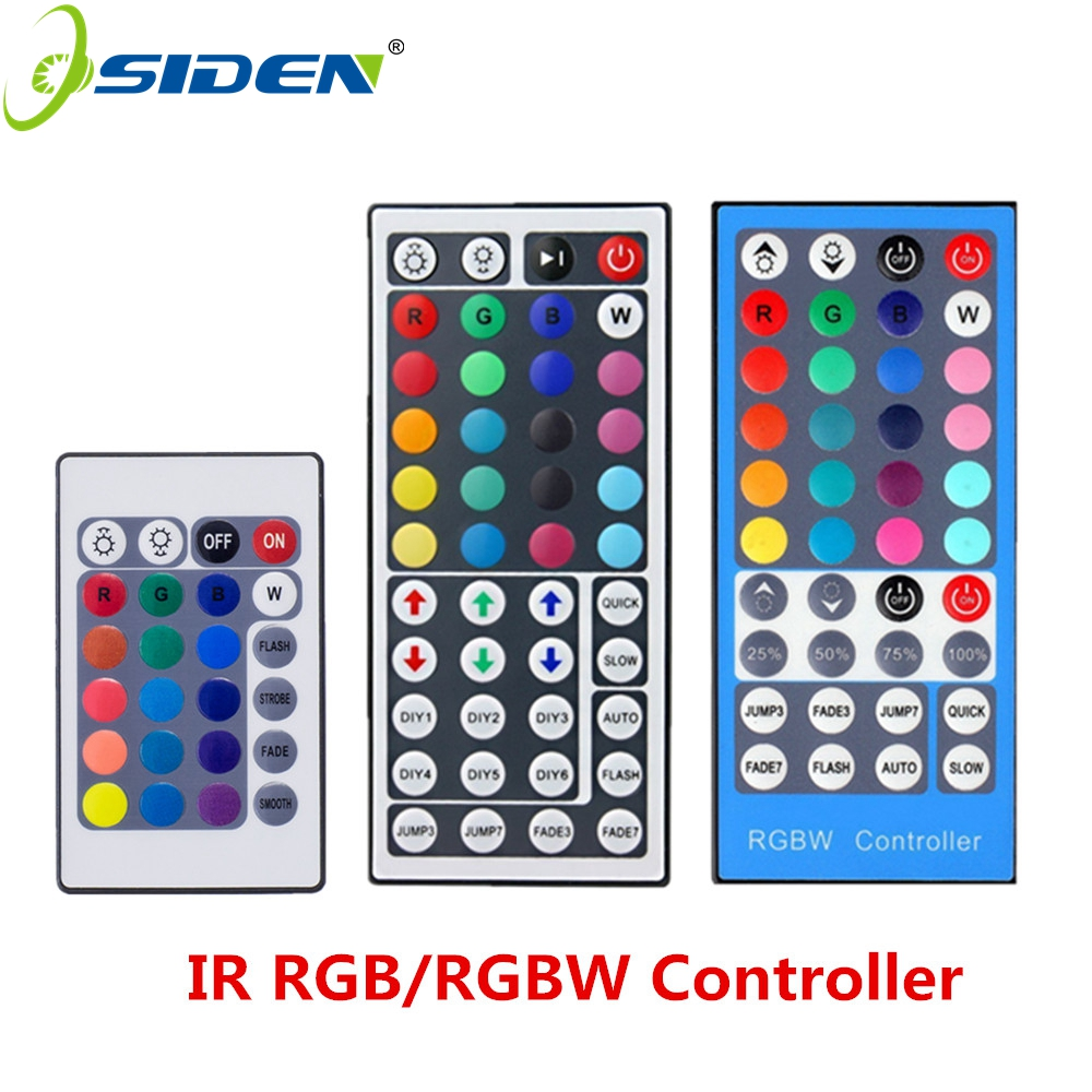 RGBW RGB Cnontroller 12V 44Key 24key 40key IR Infrared Remote Controller For RGB/RGBW LED Strip SMD 3528 5050 Led Lights