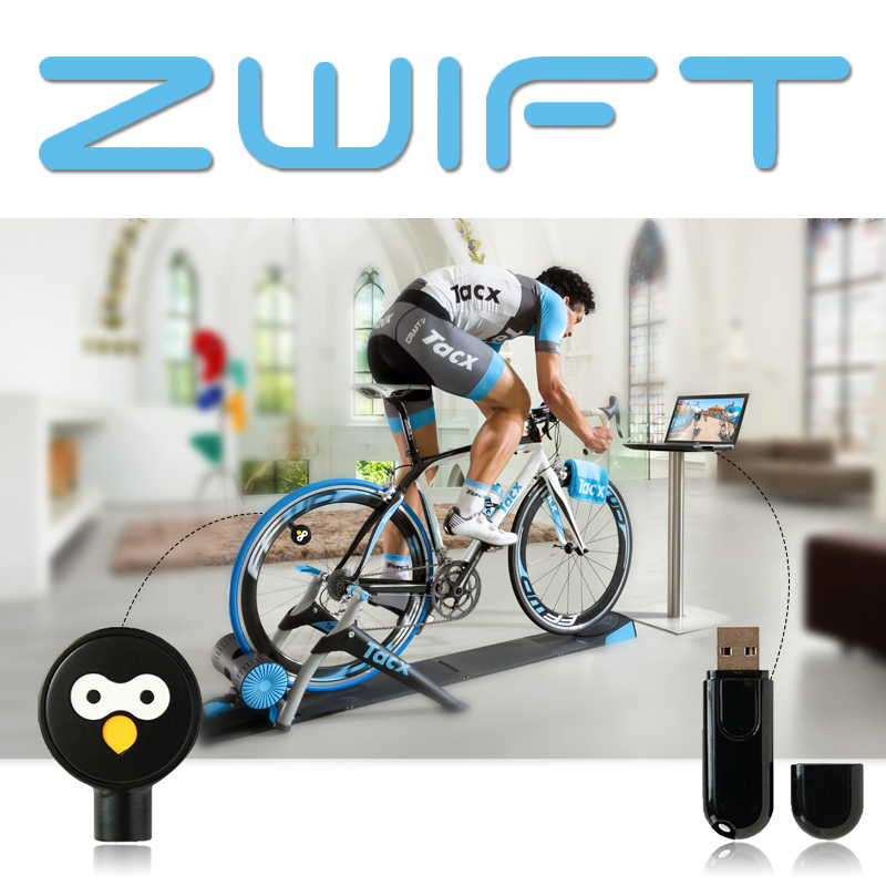 Zwift ANT+ USB Transmitter Receiver Compatible Garmin Bryton Bicycle Computer Cycle USB ANT Stick Bluetooth Speed Cadence Sensor
