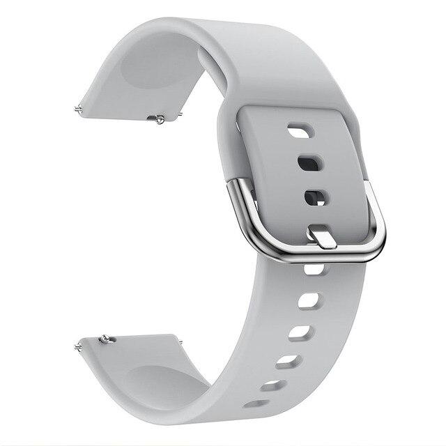 Bracelet de montre 20mm pour Samsung Galaxy montre Active 2 40/44mm Sport silicone bracelets intelligents pour Samsung Gear S2 classique 732 bracelet 2