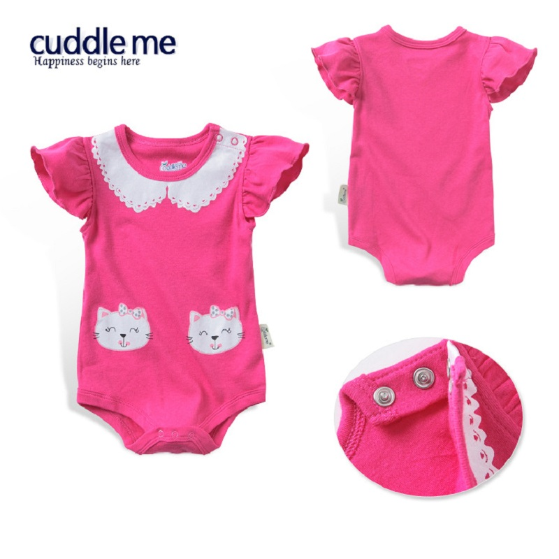Baby Rompers CAT Baby Girl clothes Cartoon Cotton Baby