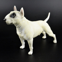 1/6 farm animals Pets guard dog figurine cute 22cm big english Bull Terrier figures Model Kids Toy Collectible Gift