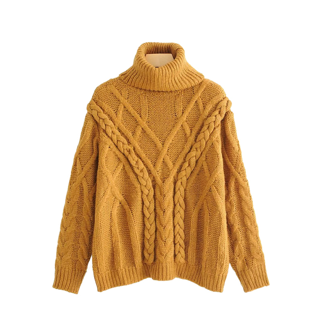 Us 2169 40 Offwomen Hand Knitted Mohair Sweaters Womens Elegant Turtleneck Pullovers Ladies Winter Oversized Knitwear Chic Handmade Sweater In