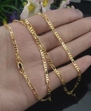 Classic Silvery/Gold color Chain Necklace for Men Women 2 mm Width Jewelry Drop Shipping