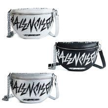 Дамские туфли из pu искусственной кожи с надписью в стиле «граффити» поясная сумка, чехол для телефона цепи поясная сумка дорожная сумка кошелек сумка через плечо для женщин