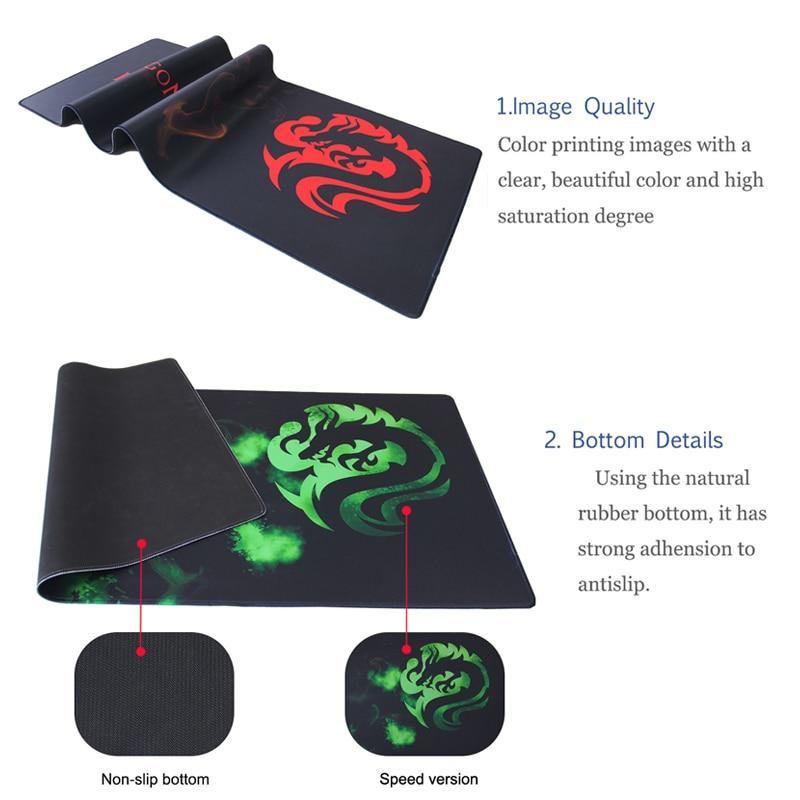 Large Mouse Pad Professional Gaming Mat Non Slip Computer Desktop Laptop Dragon