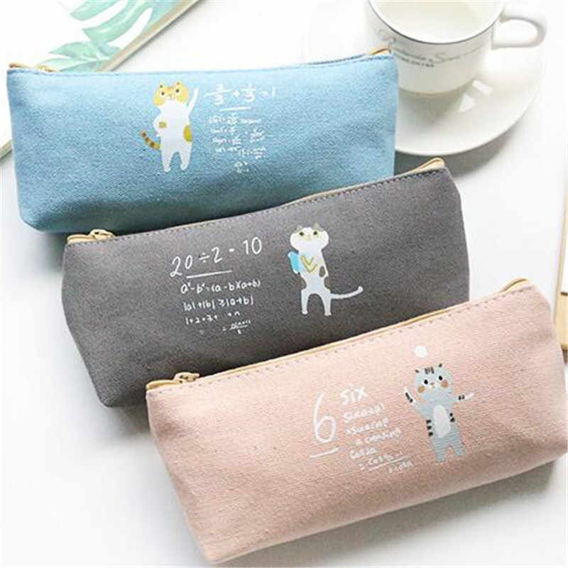 Coffee cat Zipper Pouch pencil pouch cat pouch gift for her under 15