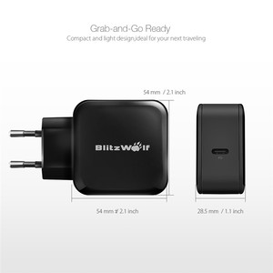 Image 5 - BlitzWolf 30W USB Type C Mobile Phone Charger PD+QC3.0 Fast Charger EU/AU Adapter Wall Travel Charger For iPhone 11 X Pro Max 8