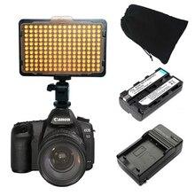 176 Светодиодов Видео освещения Камера С NP-F550 Аккумулятор и зарядное устройство для Canon Nikon Sony лучше, чем сп-160 АЛЬ-160 бесплатная мешок