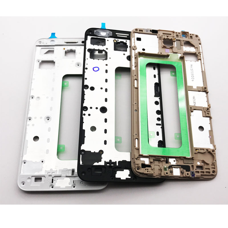 10 Pcs/Lot, For Samsung Galaxy J7 Prime / On7 (2016) G610 Front Bezel Frame Housing LCD Panel Faceplate With Free Adhesive tapes