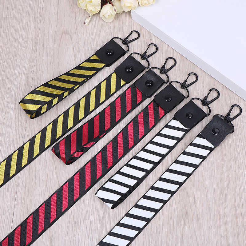 Stripe Pattern Fashion US Japan Street Brand Stripe Lanyard Wrist Neck Strap for keys ID Card Phone Straps for iPhone Hang Rope