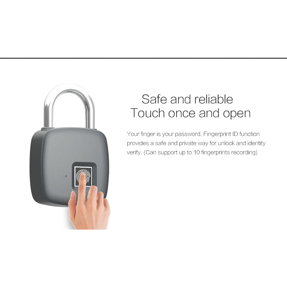 Image 3 - Smart Keyless Fingerprint lock Biometric Waterproof Lock with Finger Print Security Touch Keyless Lock USB charge for Gym Locker-in Electric Lock from Security & Protection