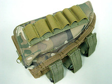 5Color Tactical Molle Kit parts pendant bag Airsoft Ammo Pouch Accessory Shotgun Rifle Bags Cheek Pad