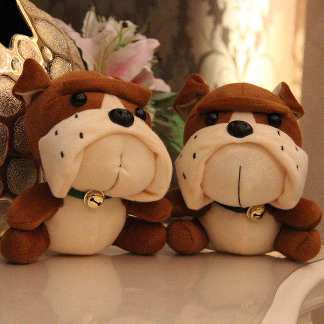 18 Cm Plush Dog Toy Baby Toy Bell Jingle The Bulldog Puppy Mini
