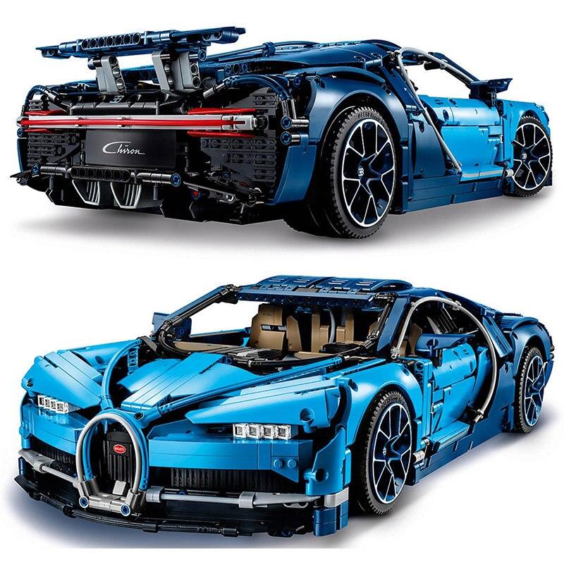 Дизайн серии Bugatti Хирон 42083 Roadster Создатель автомобиля автомобиль строительные блоки кирпичи игрушки Совместимость Legoings Technic 42083
