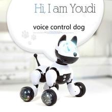Voice Control Dog and Cat Smart Robot Electronic Pet Interactive Program Dancing Walk Robotic Animal Toy Gesture Following