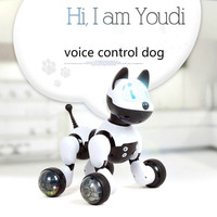 Voice Control Dog and Cat Smart Robot Electronic Pet Interactive Program Dancing Walk Robotic Animal Toy Gesture Following