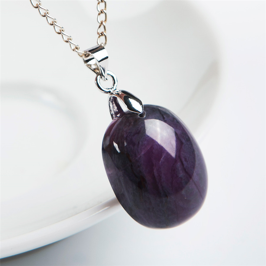 with product detail pearls church garnet sterling pendant silver sugilite