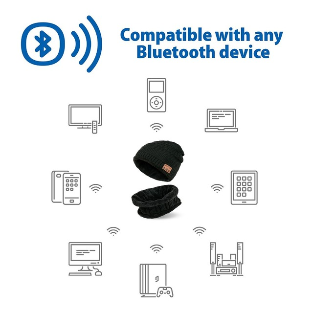 Outdoor Bluetooth Music Beanie Hat Wireless Stereo Speaker Headphones With Mic Hands Free Unisex Cap For Iphone Samsung Huawei