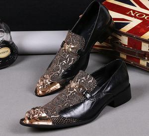 Новые мужские туфли, роскошные брендовые Лоферы золотого цвета из натуральной лакированной кожи, обувь для выпускного вечера, итальянские ...