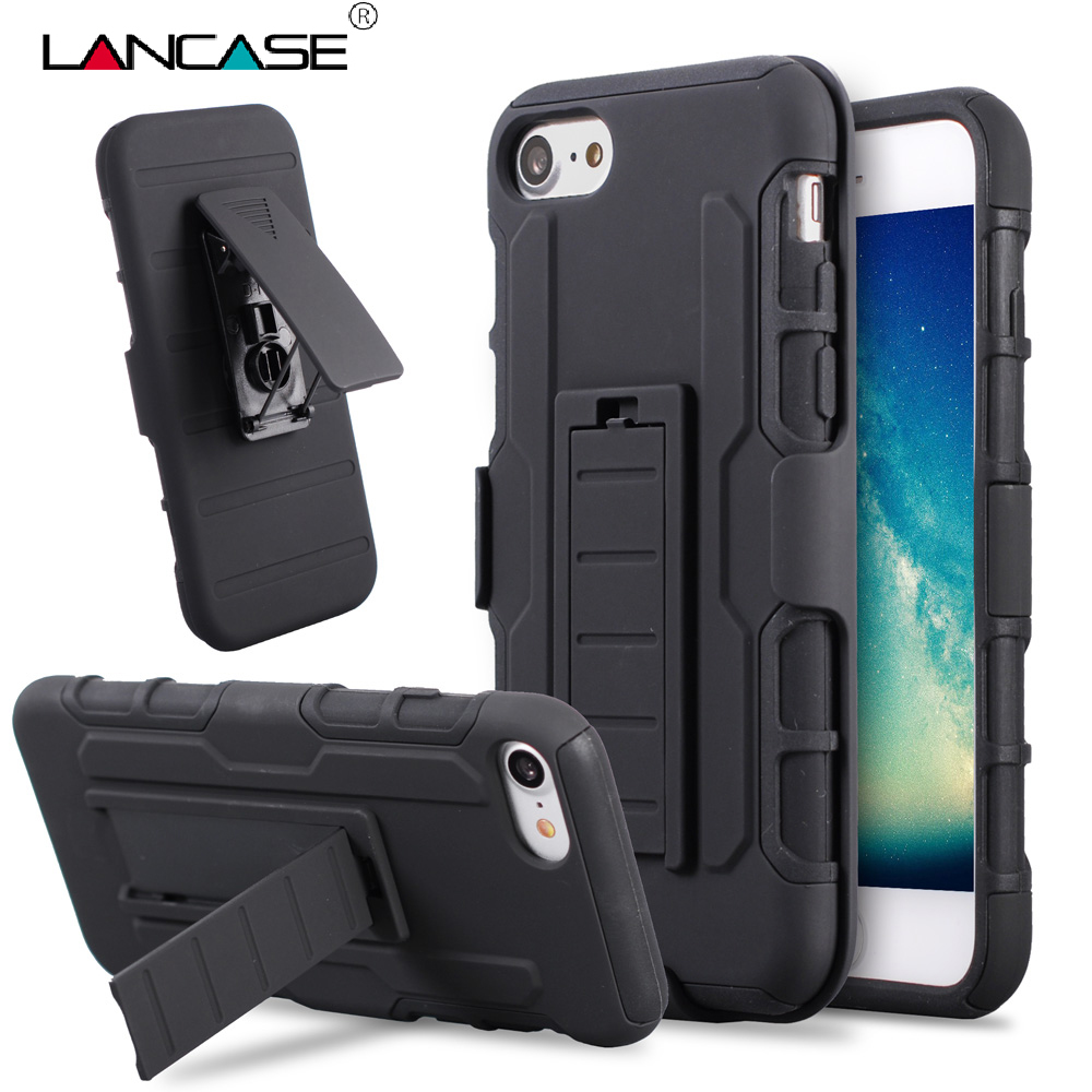 timeless design aab96 280ea LANCASE For iPhone 6S Case Cover Belt Clip Holster Stand Armor Case For  iPhone 6s Plus 6 Plus 5S SE 5C 7 PLUS Shockproof Case