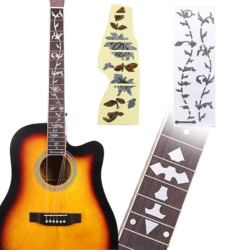 Stringed Instruments Guitar Fingerboard Decorative Stickers Marker Fretboard Inlay Mosaic Decals A Plastic Case Is Compartmentalized For Safe Storage