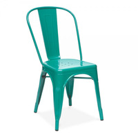 Xavier Pauchard Teal Powder Coated Side Chair
