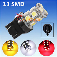 7443 7440 13 SMD 5050 Pure White,RED,Amber Yellow, LED Car Bulb Auto w21/5w led car bulbs rear brake Lights parking 12V