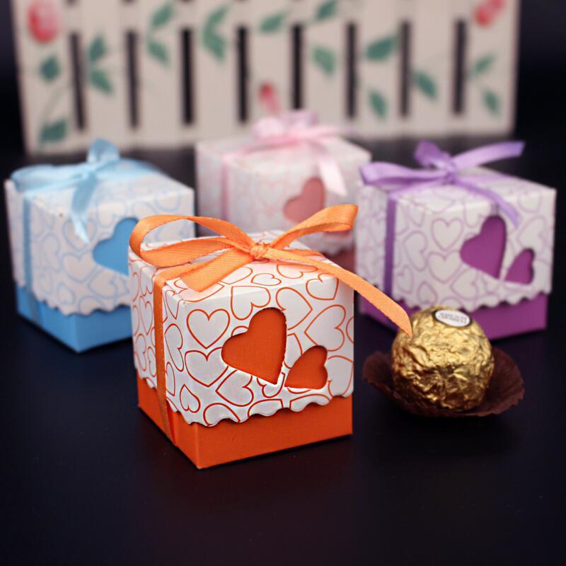 30pcs / pack romantična ljubav srce kutija bombona vjenčanje - Za blagdane i zabave - Foto 1