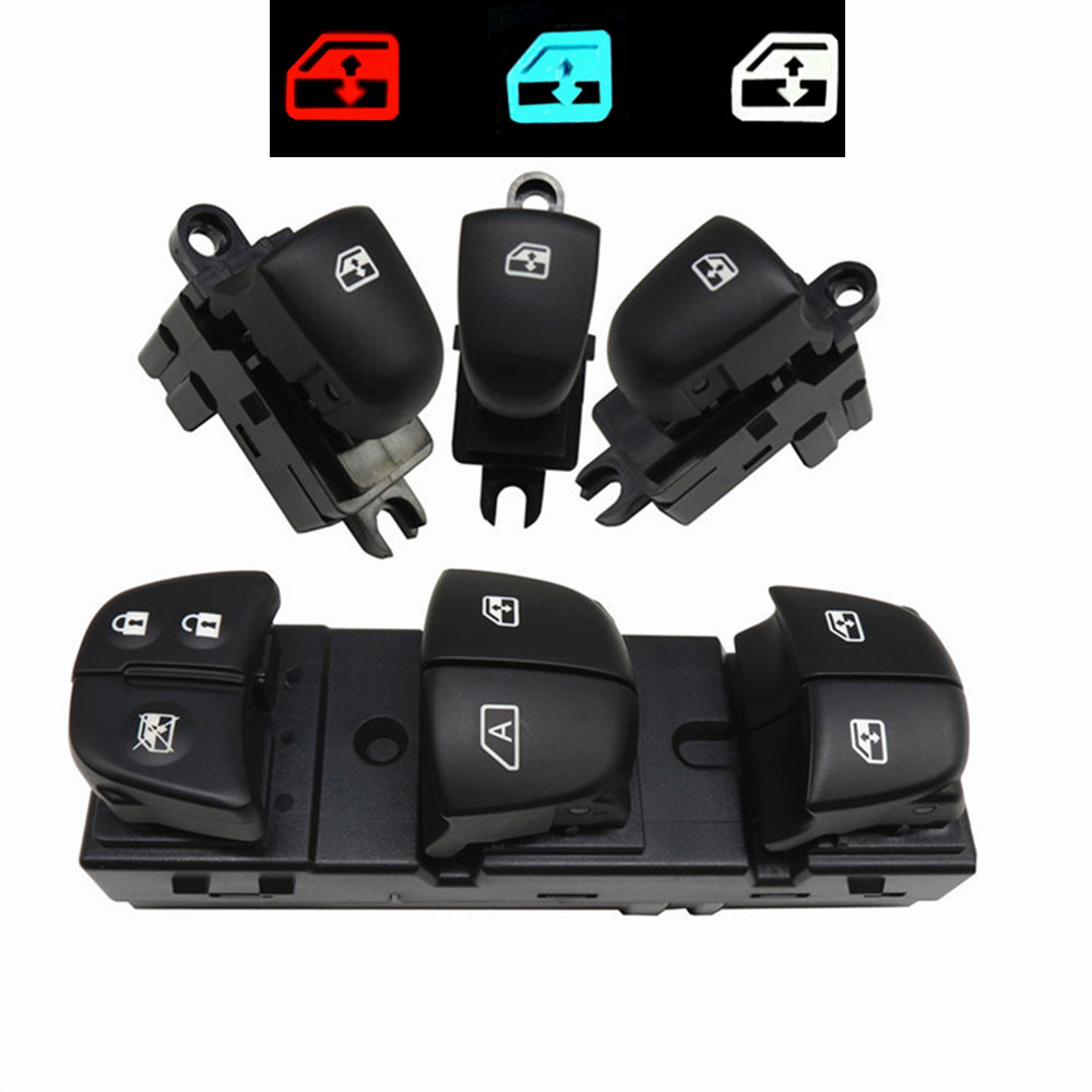1 Set/4PCS Red / White / Ice Blue Light For Nissan Qashqai/Altima/Sylphy/Tiida/X Trail Power Window Switch/Single Window switch-in Car Switches & Relays from Automobiles & Motorcycles