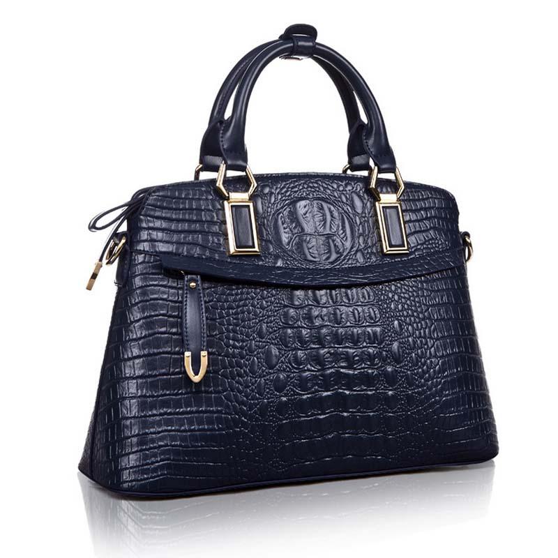 ФОТО crocodile Embossed Leather Handbags 2015 Genuine Leather Women Messenger Bags New Fashion Shell Female Women Bag