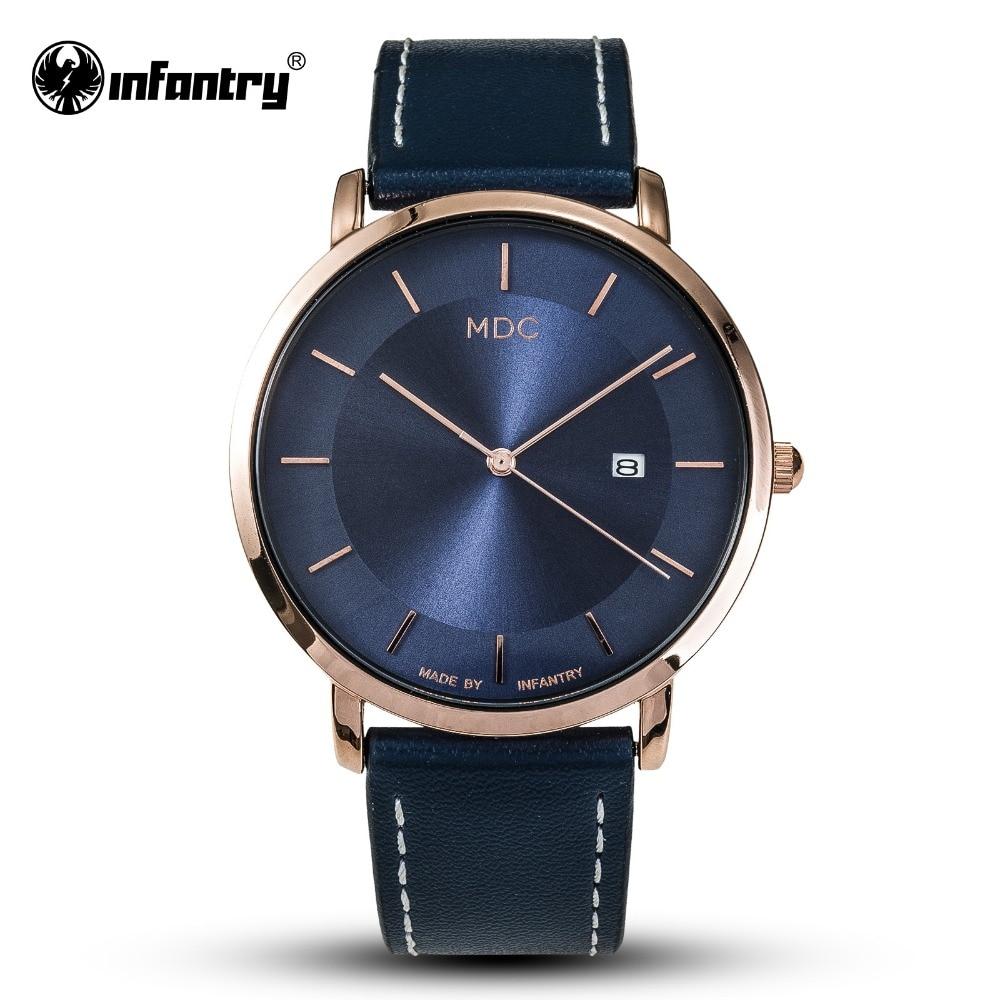 MDC Women Watches Top Brand Luxury Minimalist Rose Glod Watch Women Blue Leather Ladies Ultra Thin Slim Simple Reloj Mujer Femme
