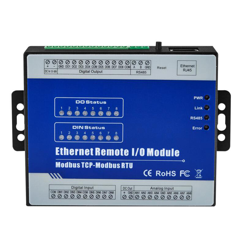 Ethernet Remote IO Module for Modbus RTU I/O devices RTU meters 8 Digital Outputs industrial automation M320T new original rtu en01 plc ethernet remote i o module