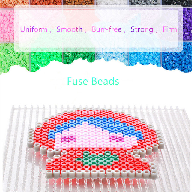 4600pcs set Hama Beads Educational jigsaw toys 48 Colors 5mm Perler Beads for Children 3D puzzle
