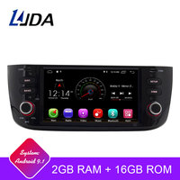 LJDA 1 din Auto Radio Android 9.1 Car Multimedia Stereo For Fiat Grande Punto Abarth Punto EVO Linea 2012 2013 2014 2015 WIFI
