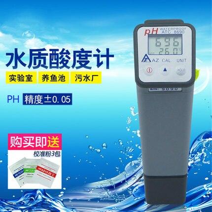 цена на AZ8690 High Precision Water Quality PH Value PH Test Pen Industrial PH Meter Water Temperature Measuring Instrument