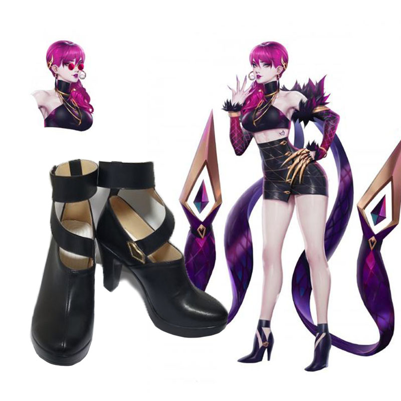Game LOL K/DA Agony's Embrace Evelynn shoes Cosplay Custom men's and women's  fashion leisure cartoon PU leather shoes