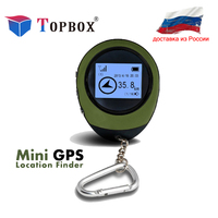 Topbox GPS Tracker Mini Navigation Device Travel Portable Keychain Locator Pathfinding Motorcycle Vehicle Sport Handheld GPS