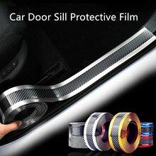 Film de protection pour seuil de porte de voiture 1M, Film de protection autocollant universel, anti rayures, Anti coup de pied, en Fiber de carbone, pour pare choc de voiture